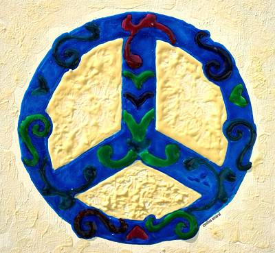 Painting - Peace Sign by Cynthia Amaral