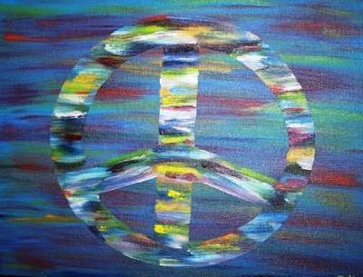 Painting - Peace Sign by The GYPSY And DEBBIE