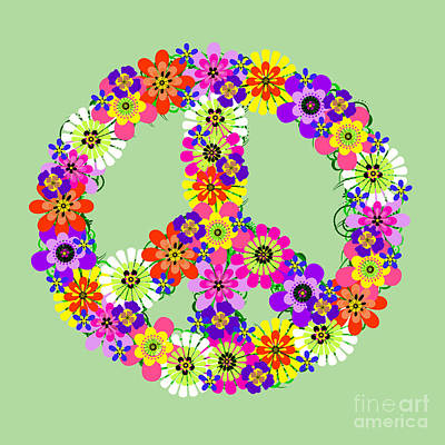Photograph - Peace Sign Floral by Valerie Fuqua