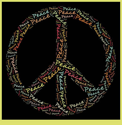 Signed Digital Art - Peace Symbol - 0202 by Variance Collections