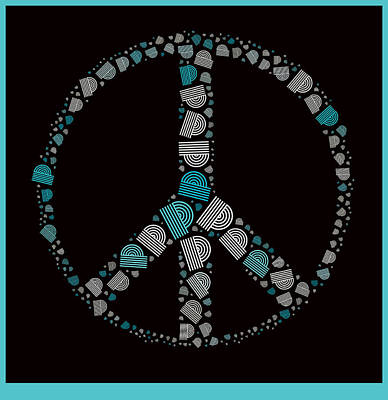 Peace Digital Art - Peace Symbol Design - 87d by Variance Collections