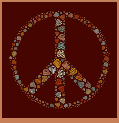 Signed Digital Art - Peace Symbol Design - S05d by Variance Collections