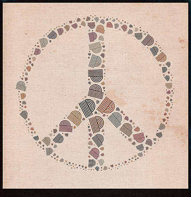 Peace Digital Art - Peace Symbol Design - S77at01 by Variance Collections