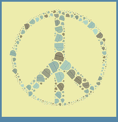 Peace Digital Art - Peace Symbol Design - Y87d by Variance Collections