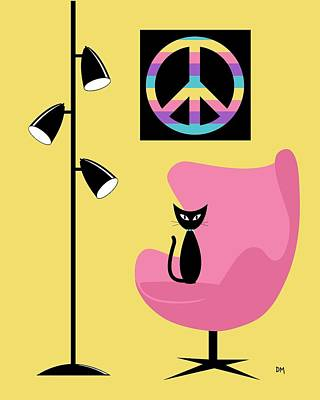 Eames Digital Art - Peace Symbol by Donna Mibus