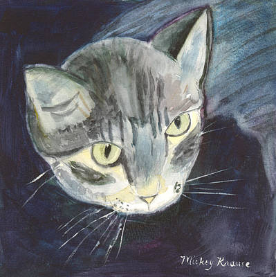 Painting - Peace The Cat by Mickey Krause