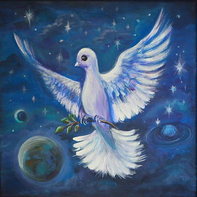 Painting - Peace To The World by Agata Lindquist