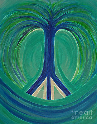 Peace Tree By Jrr Art Print