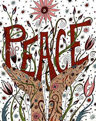 Peace Art Print by Valerie Lorimer