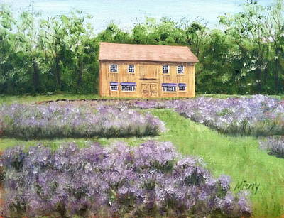Painting - Peace Valley Lavender Farm by Margie Perry