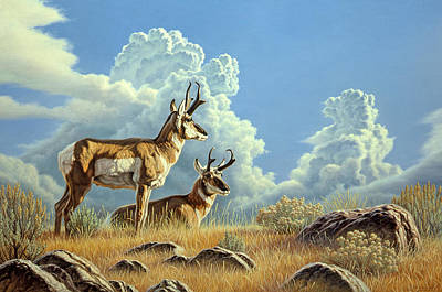Wildlife Landscape Painting - Peaceful Afternoon by Paul Krapf