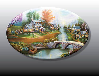 Peaceful Alpine Village 2 Art Print