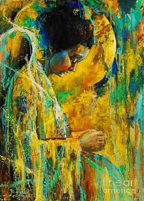 Peaceful Angel Original by Michal Kwarciak