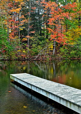 Dazzling Days Photograph - Peaceful Autumn Day by Frozen in Time Fine Art Photography