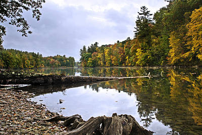 Photograph - Peaceful Autumn Lake by Christina Rollo
