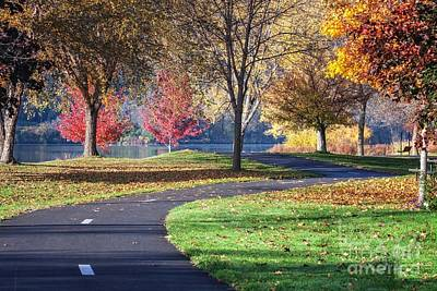 Peaceful Autumn Path II Art Print