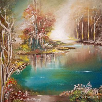 Painting - Peaceful Bayou by Nereida Rodriguez