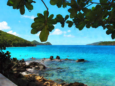 Shore Lines Photograph - Peaceful Beach St. Thomas by Susan Savad