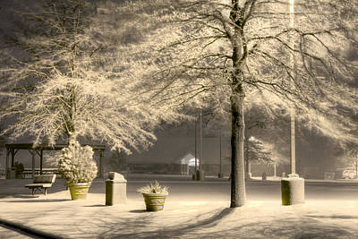 Snowy Night Photograph - Peaceful Blizzard by JC Findley