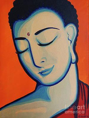 Peaceful Buddha Print by Rebecca Mott