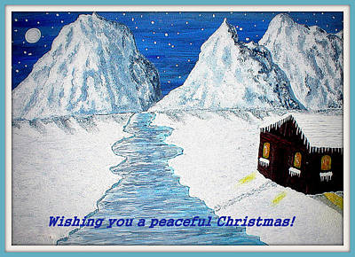 Painting - Peaceful Christmas by Sandy Wager