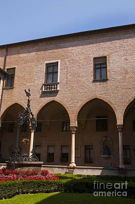 Photograph - Peaceful Cloister Of St Guistina Padua by Brenda Kean