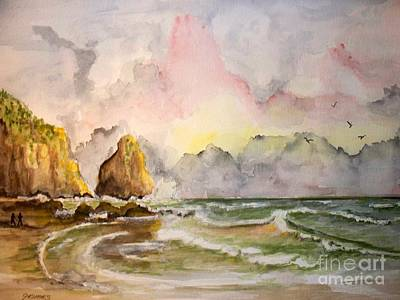Peaceful Cove Art Print by Carol Grimes
