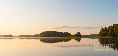 Photograph - Peaceful Dawn At The Lake by Ismo Raisanen