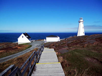 Peaceful Day At Cape Spear Art Print