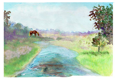Painting - Peaceful Day by C Sitton