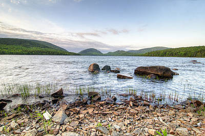 Green Photograph - Peaceful Early Morning At Eagle Lake by Donna Doherty