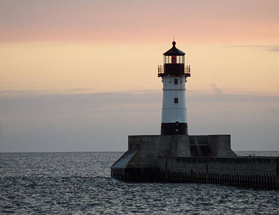 Duluth Canal Park Canal Park Lighthouse Lighthouse Lake Superior Minnesota Photograph - Peaceful Easy Feeling by Alison Gimpel