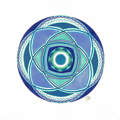 Mandalas Drawing - Peaceful Eternity by Signe  Beatrice