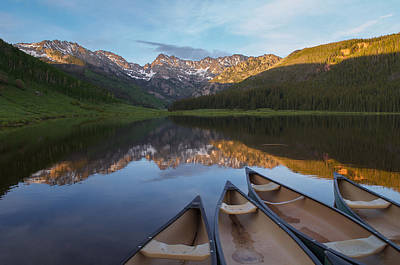 Peaceful Evening In The Rockies Art Print by Aaron Spong