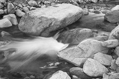 Photograph - Peaceful Flowing Water In Black And White  by James BO Insogna