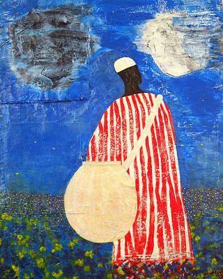 Yoruba Painting - Peaceful Garden by Duwayne Washington
