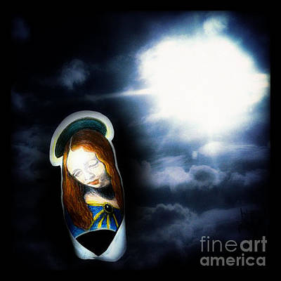 Painting - Peaceful Glowing Madonna by Genevieve Esson