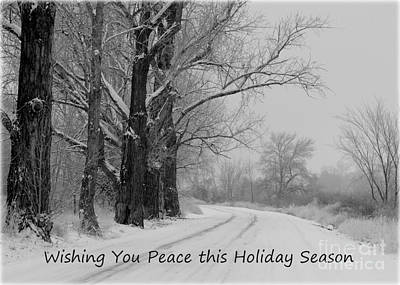 Peaceful Holiday Card Art Print by Carol Groenen