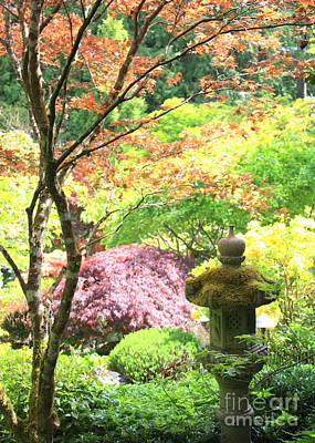 Photograph - Peaceful Japanese Garden by Carol Groenen
