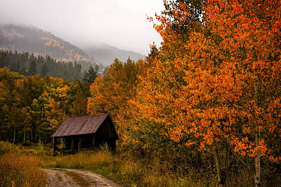 Log Cabins Photograph - Peaceful by Ken Smith