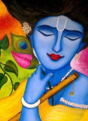Shyam Painting - Peaceful Krishna by  prashant Maru