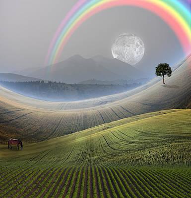 Digital Art - Peaceful Landscape  by Bruce Rolff