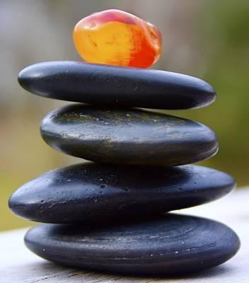 Peaceful Meditation Rocks Art Print by Jennifer Lamanca Kaufman