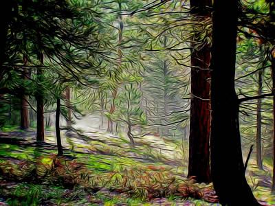 Foggy Morning Digital Art - Peaceful Morning Digital Art by Ernie Echols