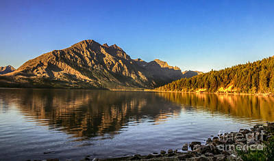 Photograph - Peaceful Morning On St. Mary Lake by Robert Bales