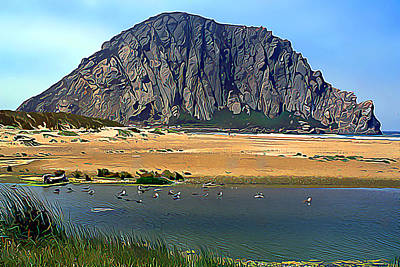 Peaceful Morro Rock Art Print by Wernher Krutein
