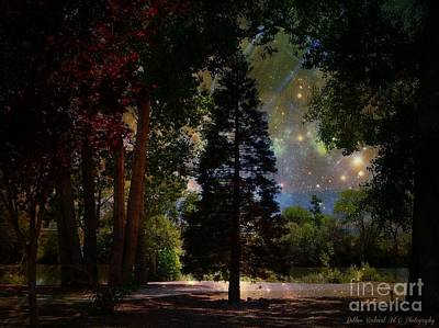 Magical Night At The River Art Print by Bobbee Rickard