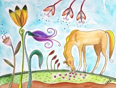 Painting - Peaceful Palomino by Marti McGinnis