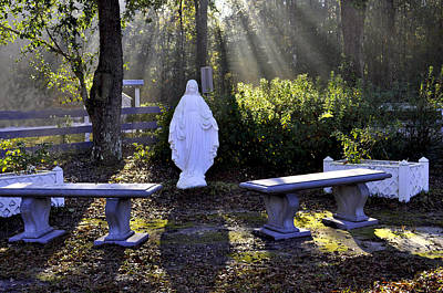 Photograph - Peaceful Place To Pray With Mary by Terry Sita