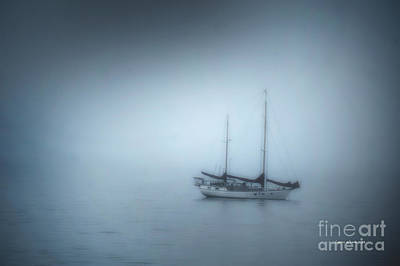 Photograph - Peaceful Sailboat On A Foggy Morning From The Book My Ocean by Artist and Photographer Laura Wrede